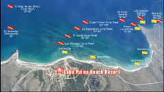 Cabo Pulmo Dive Map