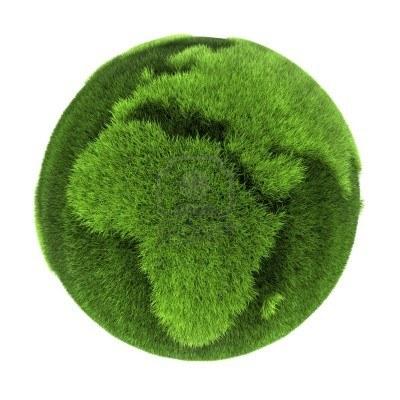 tierra hecha de pasto verde europa y africa abstracta renderizacion