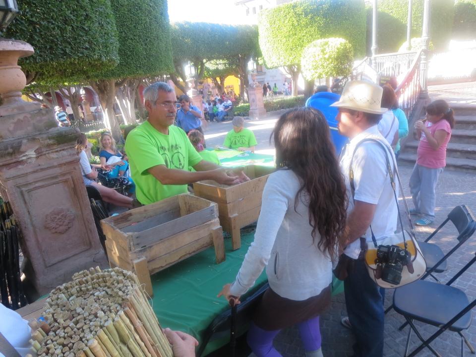 Pláticas, Música y talleres de composta en el Jardín Principal de San Miguel de Allende.