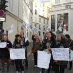 Miles de manos unidas contra el cambio climático en Paris