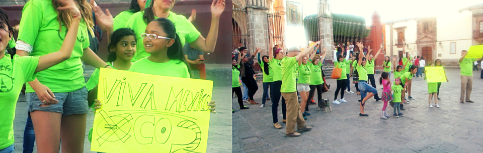 "Flashmob del Rap contra Monsanto, ""México de Pie"""