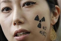 nuclear protesta Japon, nuclear protest in Japan