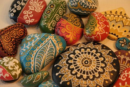 Piedras de r o pintadas v a org nica - Piedras de rio pintadas ...