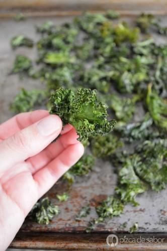 Chips de Kale. Fotografía: Pizca de Sabor.